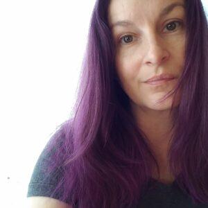 Purple Hair Head Shot
